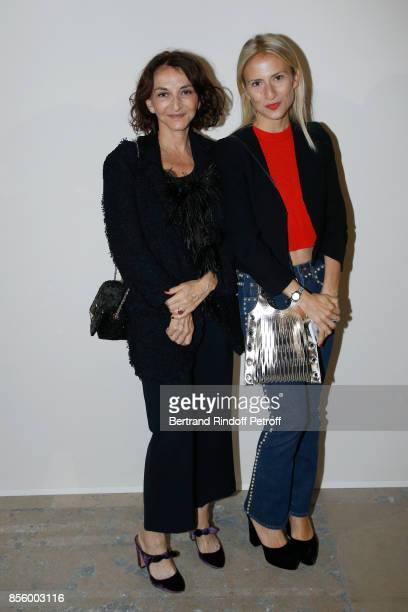 Nathalie Rykiel and her daughter Lola BursteinRykiel attend the Sonia Rykiel show as part of the Paris Fashion Week Womenswear Spring/Summer 2018 on...