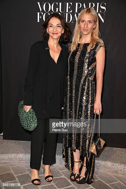 Nathalie Rykiel and Lola Rykiel attend the Vogue Foundation Gala 2016 at Palais Galliera on July 5 2016 in Paris France