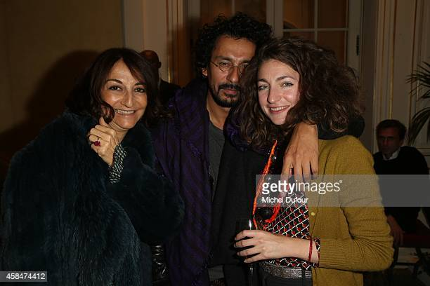 Nathalie Rykiel Haider Ackermann and Anna Klossowski de Rola attend the 'Loulou de la Falaise' book signing on November 5 2014 in Paris France