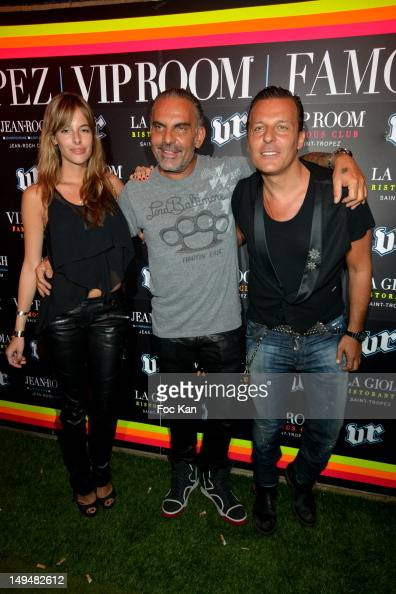 Nathalie Sorensen Christian Audigier and Jean Roch Pedri attends the Christian Audigier 'Lord of Baltimore' Party at the VIP Room Saint Tropez on...