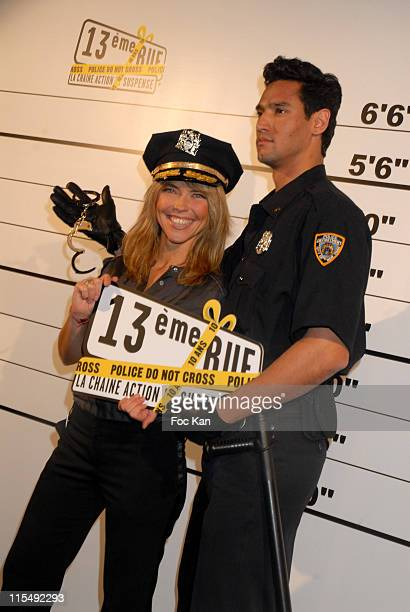 Nathalie Vincent and a Fake Policeman attend the 13eme Rue TV Channel 10th Anniversary on November 12 2007 in Paris France
