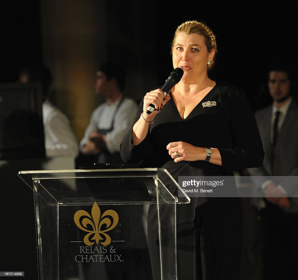 Nathalie Vranken speaks at Relais & Chateaux's 'Diner des Grands Chefs London 2013' in aid of Action Against Hunger at The Old Billingsgate on April 22, 2013 in London, England.
