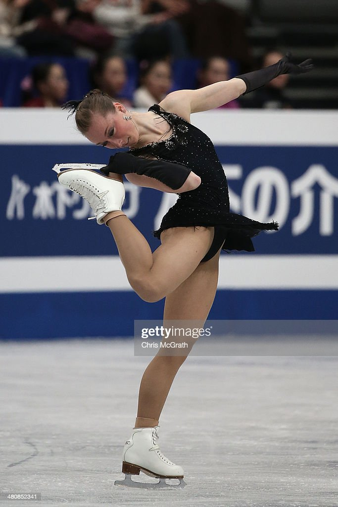 <a gi-track='captionPersonalityLinkClicked' href=/galleries/search?phrase=Nathalie+Weinzierl&family=editorial&specificpeople=8823412 ng-click='$event.stopPropagation()'>Nathalie Weinzierl</a> of Germany competes in the Ladies Short Program during ISU World Figure Skating Championships at Saitama Super Arena on March 27, 2014 in Saitama, Japan.