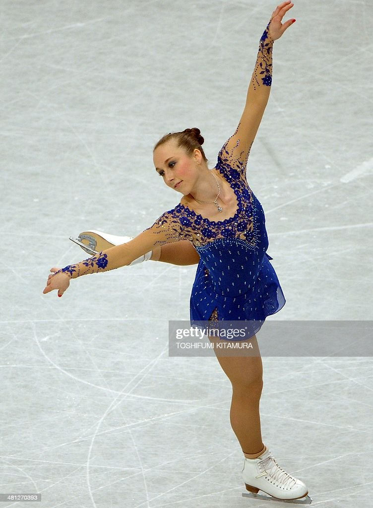 Nathalie Weinzierl of Germany performs during her free skating in the women's singles at the world figure skating championships in Saitama on March 29, 2014.