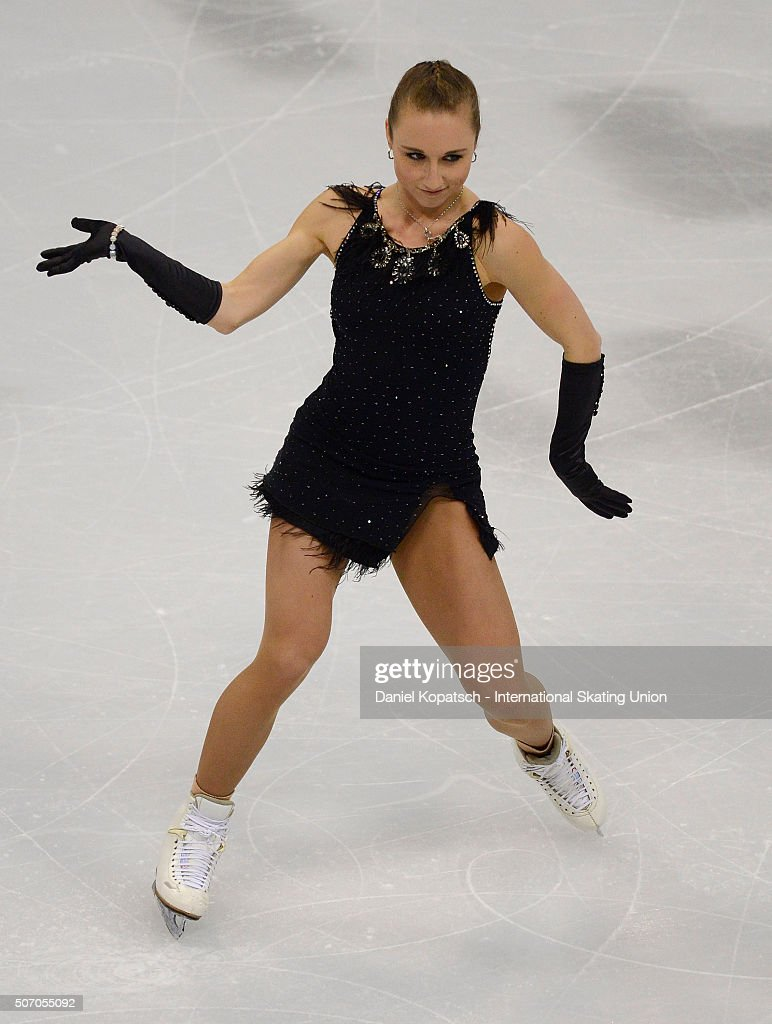 <a gi-track='captionPersonalityLinkClicked' href=/galleries/search?phrase=Nathalie+Weinzierl&family=editorial&specificpeople=8823412 ng-click='$event.stopPropagation()'>Nathalie Weinzierl</a> of Germany performs during the Ladies Short Program during day one of the ISU European Figure Skating Championships 2016 on January 27, 2016 in Bratislava, Slovakia.