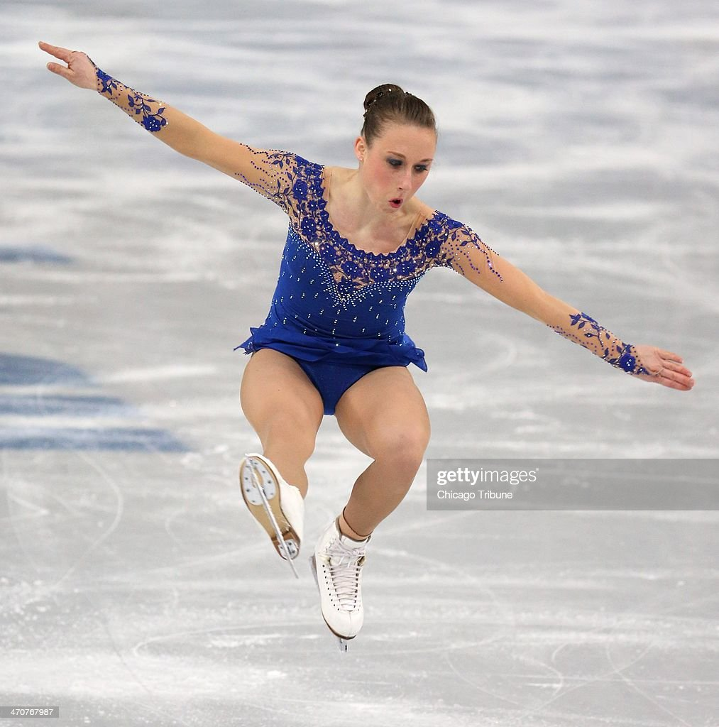 Nathalie Weinzierl of Germany performs in the ladies' figure skating free skate at the Iceberg Skating Palace during the Winter Olympics in Sochi, Russia, Thursday, Feb. 20, 2014.