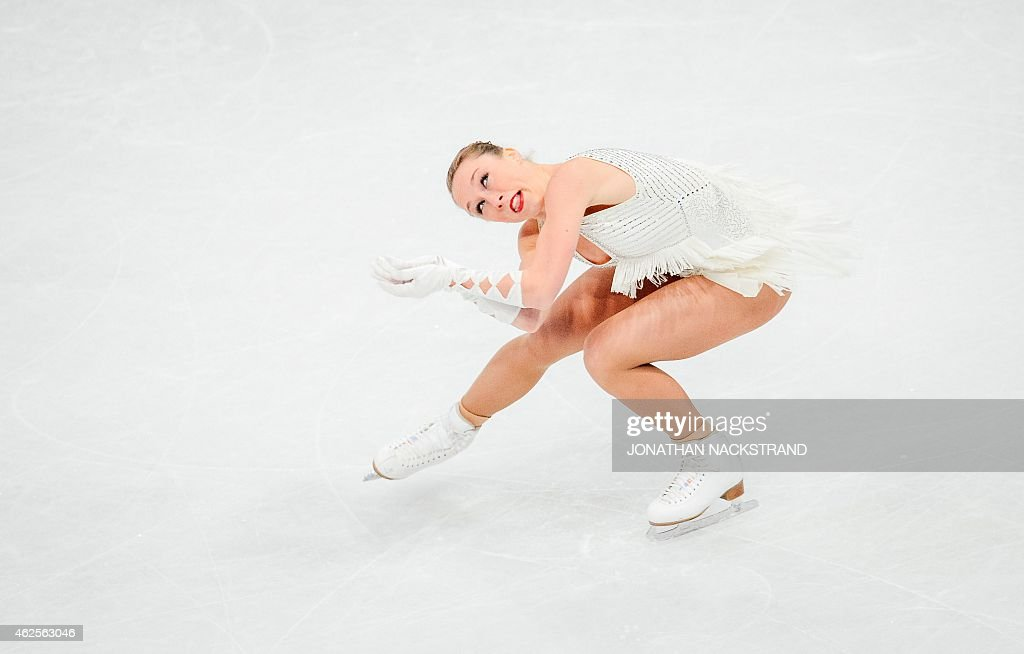 <a gi-track='captionPersonalityLinkClicked' href=/galleries/search?phrase=Nathalie+Weinzierl&family=editorial&specificpeople=8823412 ng-click='$event.stopPropagation()'>Nathalie Weinzierl</a> of Germany performs on ice during the ladies free skating routine of the ISU European Figure Skating Championships on January 31, 2015 in Stockholm, Sweden.