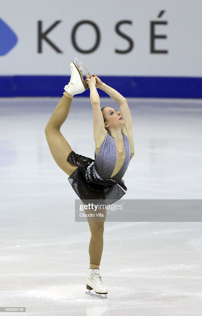 Nathalie Weinzierl of Germany skates in the Junior Ladies Short Program during day 5 of the ISU World Junior Figure Skating Championships at Agora Arena on March 01, 2013 in Milan, Italy.