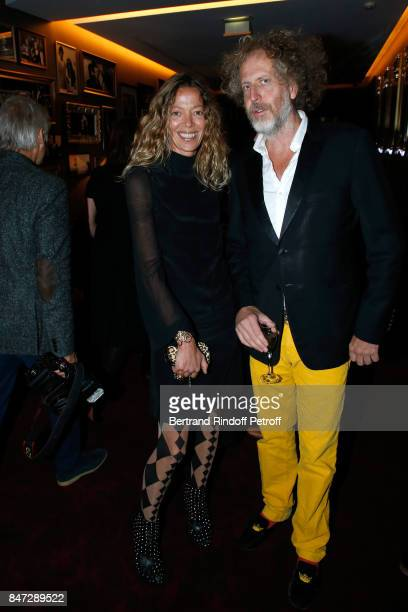 Nathalie Ziegler Pasqua and Fabrice de Rohan Chabot attend the Reopening of the Hotel Barriere Le Fouquet's Paris decorated by Jacques Garcia at...