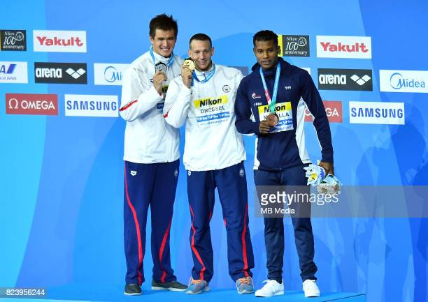 Nathan Adrian Caeleb Remel Dressel Mehdy Metella during the Budapest 2017 FINA World Championships on July 27 2017 in Budapest Hungary