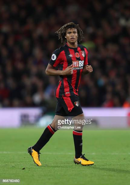 Nathan Ake of AFC Bournemouth in action during the Premier League match between AFC Bournemouth and Chelsea at Vitality Stadium on October 28 2017 in...