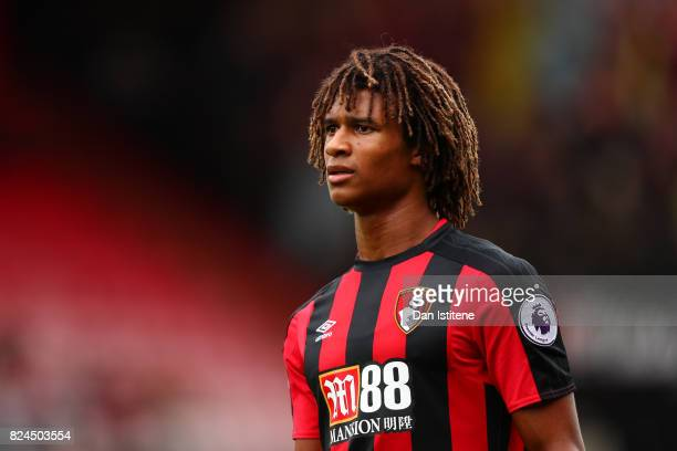 Nathan Ake of AFC Bournemouth in action during the preseason friendly match between AFC Bournemouth and Valencia CF at Vitality Stadium on July 30...