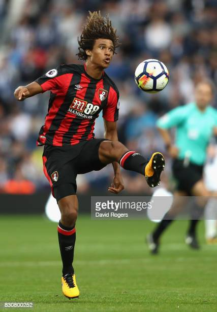 Nathan Ake of Bournemouth controls the ball during the Premier League match between West Bromwich Albion and AFC Bournemouth at The Hawthorns on...