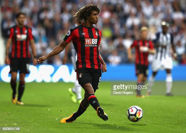 Nathan Ake of Bournemouth passes the ball during the Premier League match between West Bromwich Albion and AFC Bournemouth at The Hawthorns on August...