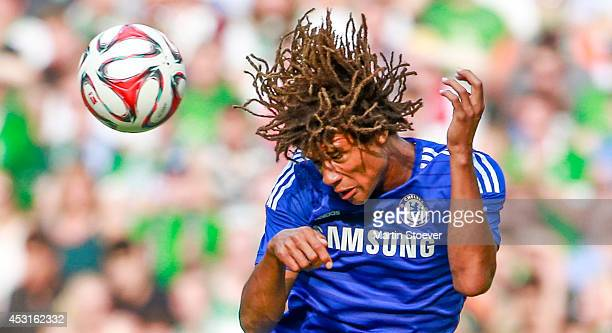 Nathan Ake of Chelsea during the pre season friendly match between SV Werder Bremen and FC Chelsea at Weserstadion on August 3 2014 in Bremen Germany