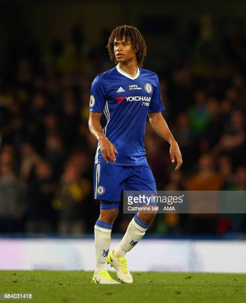 Nathan Ake of Chelsea during the Premier League match between Chelsea and Watford at Stamford Bridge on May 15 2017 in London England