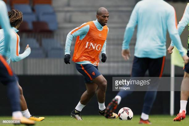 Nathan Ake of Holland Ryan Babel of Holland during a training session prior to the FIFA World Cup 2018 qualifying match between Belarus and...