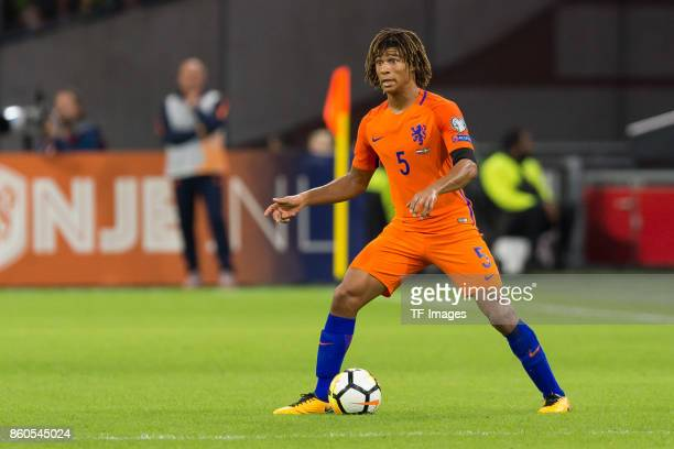 Nathan Ake of Netherlands controls the ball during the FIFA 2018 World Cup Qualifier between Netherlands and Sweden at Amsterdam ArenA on October 10...