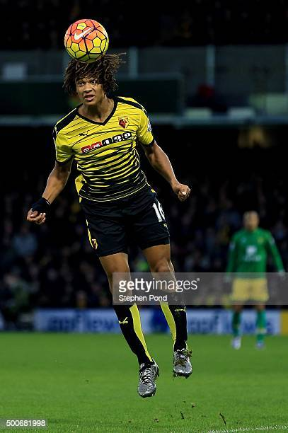 Nathan Ake of Watford during the Premier League match between Watford and Norwich City at Vicarage Road stadium on December 5 2015 in Watford England