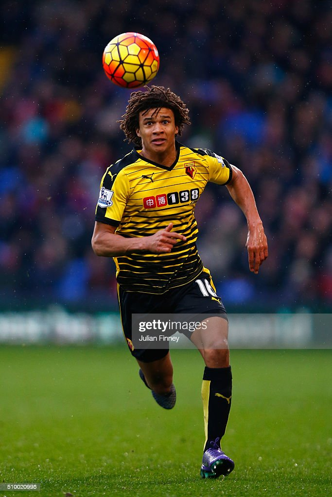 Nathan Ake of Watford in action during the Barclays Premier League match between Crystal Palace and Watford at Selhurst Park on February 13, 2016 in London, England.