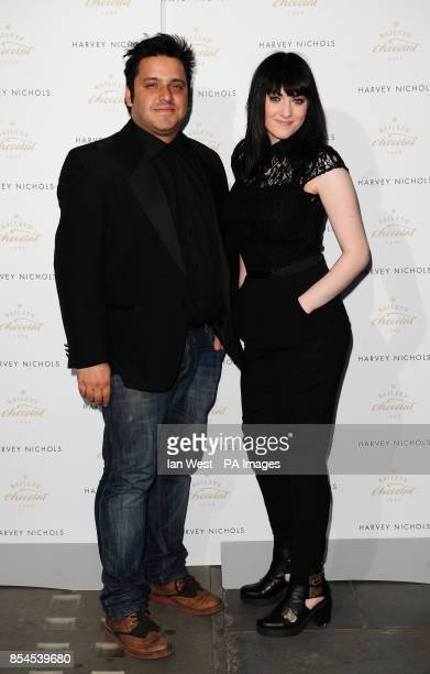 Nathan Amzi and Christina Marie attending the Baileys Feaster Egg Hunt at Harvey Nichols in London