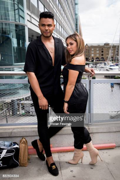 Nathan and Sophie Kasaei attend the Geordie Shore Land of Hope and Geordie photocall to celebrate the launch of series 15 on August 16 2017 in London...