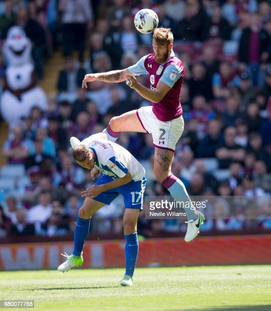 Nathan Baker of Aston Villa during the Sky Bet Championship match between Aston Villa and Brighton Hove Albion at Villa Park on May 07 2017 in...