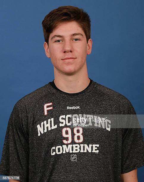 Nathan Bastian poses for a headshot at the 2016 NHL Combine on June 2 2016 at Harborcenter in Buffalo New York