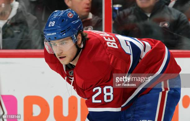 Nathan Beaulieu of the Montreal Canadiens looks on against the Philadelphia Flyers on February 2 2017 at the Wells Fargo Center in Philadelphia...