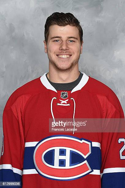 Nathan Beaulieu of the Montreal Canadiens poses for his official headshot for the 20162017 season on September 22 2016 at the Bell Sports Complex in...