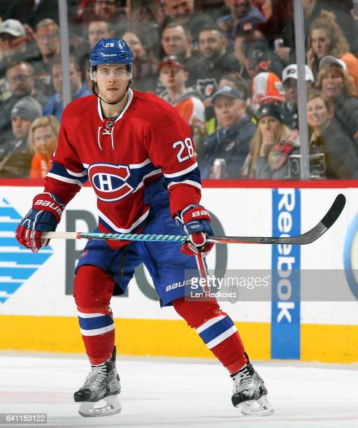Nathan Beaulieu of the Montreal Canadiens skates against the Philadelphia Flyers on February 2 2017 at the Wells Fargo Center in Philadelphia...