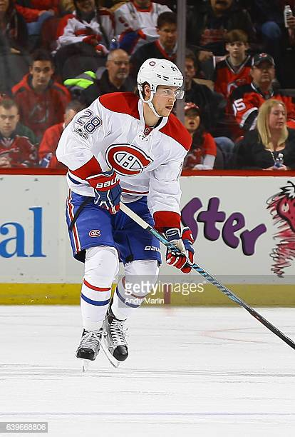 Nathan Beaulieu of the Montreal Canadiens skates during the game against the New Jersey Devils at Prudential Center on January 20 2017 in Newark New...