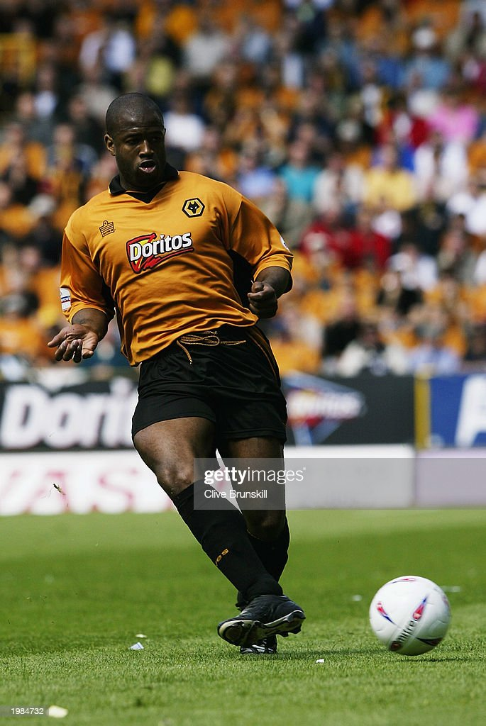 Nathan Blake of Wolverhampton Wanderers passes the ball during the Nationwide First Division match between Wolverhampton Wanderers and Leicester City held on May 4, 2003 at the Molineux Stadium in Wolverhampton, England. The match ended in a 1-1 draw.