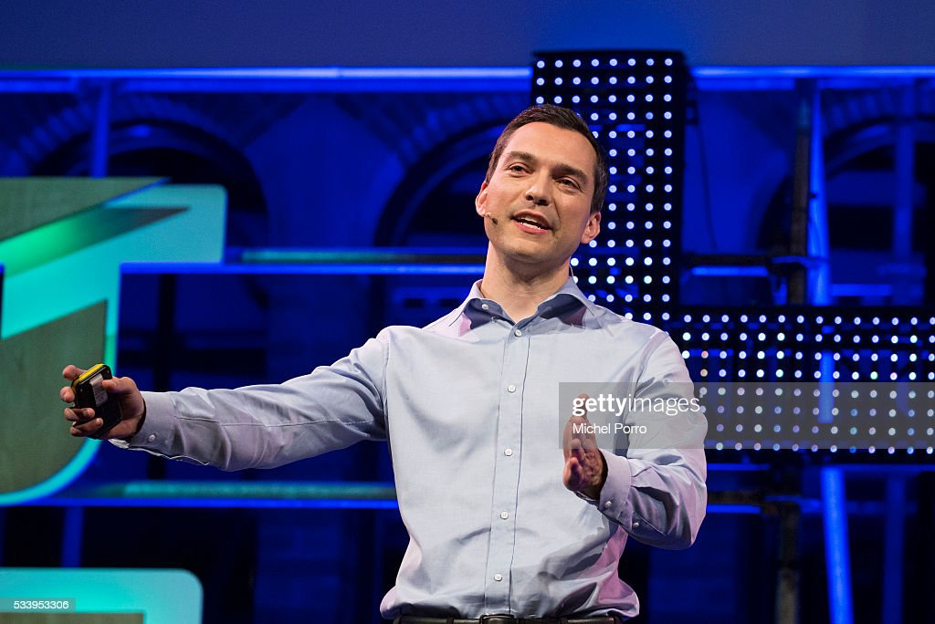 Nathan Blecharczyk, CEO of Airbnb, attends the kick-off of Startup Fest Europe on May 24, 2016 in Amsterdam, The Netherlands. The event facilitates match-making between investors and startup entrepreneurs from all over the world.