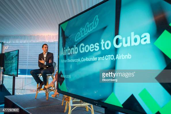 Nathan Blecharczyk cofounder and chief technology officer of Airbnb Inc speaks during the 2015 Bloomberg Technology Conference in San Francisco...
