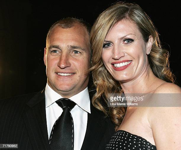 Nathan Brown coach of the St George Illawarra Dragons and wife Tanya arrive at the Dally M Awards at Sydney Town Hall September 5 2006 in Sydney...
