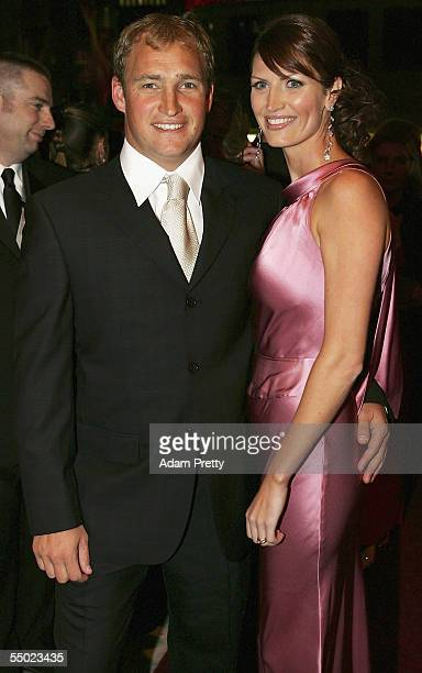 Nathan Brown of the St George Illawarra Dragons and Partner arrives for the Dally M Awards at the Sydney Town Hall September 6 2005 in Sydney...