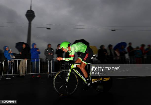 Nathan Brown of the United States and Cannondale Drapac competes during stage one of Le Tour de France 2017 a 14km individual time trial on July 1...