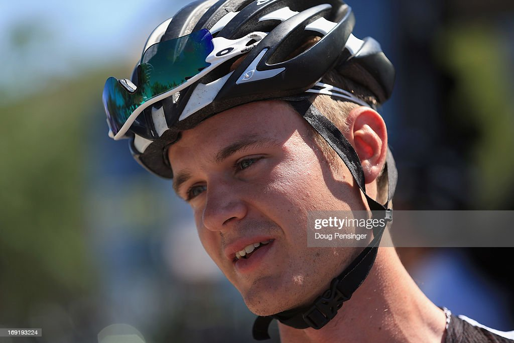Nathan Brown riding for Bontrager looks on prior to the start of Stage Two of the 2013 Amgen Tour of California from Murrieta to Palm Springs on May 13, 2013 in Murrieta, California.