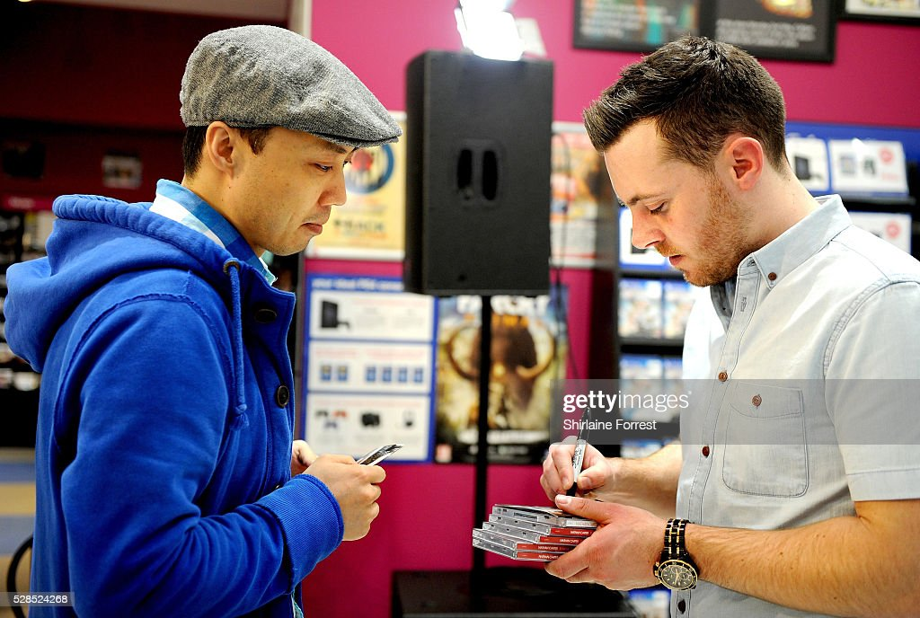 Nathan Carter performs live and signs copies of his new album 'Stayin' Up All Night' at HMV Manchester on May 5, 2016 in Manchester, England.