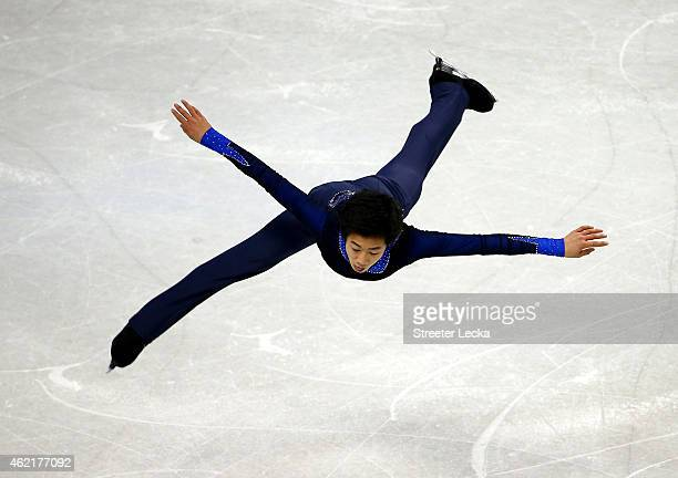 Nathan Chen competes in the Men's Free Skate Program Competition during day 4 of the 2015 Prudential US Figure Skating Championships at Greensboro...