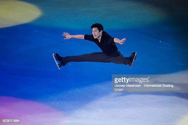 Nathan Chen of the United States performs during Gala Exhibition on day three of the Trophee de France ISU Grand Prix of Figure Skating at...