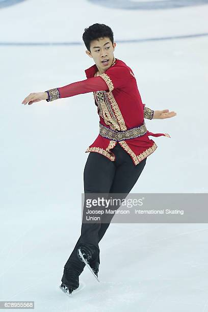Nathan Chen of United States competes during Senior Men's Free Skating on day three of the ISU Junior and Senior Grand Prix of Figure Skating Final...