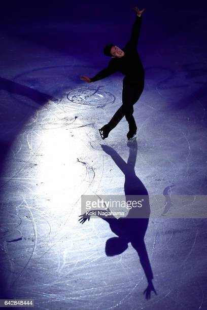 Nathan Chen of United States performs in the Exhibition program during ISU Four Continents Figure Skating Championships Gangneung Test Event For...