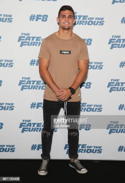 Nathan Cleary arrives ahead of The Fate of the Furious Sydney Premiere on April 11 2017 in Sydney Australia