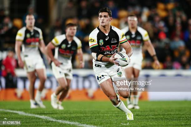 Nathan Cleary of the Panthers in action during the round 19 NRL match between the New Zealand Warriors and the Penrith Panthers at Mt Smart Stadium...