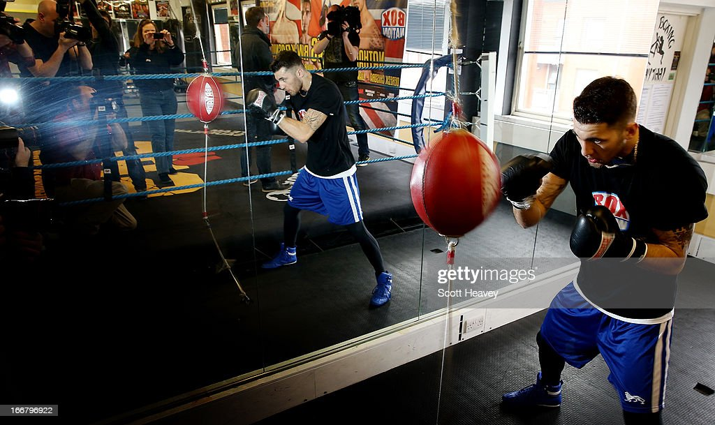<a gi-track='captionPersonalityLinkClicked' href=/galleries/search?phrase=Nathan+Cleverly&family=editorial&specificpeople=5152922 ng-click='$event.stopPropagation()'>Nathan Cleverly</a> trains during a media workout at the Stonebridge ABC Boxing Gym on April 17, 2013 in London, England.