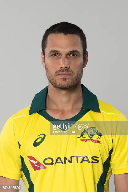 Nathan CoulterNile poses during the Australia One Day International Team Headshots Session at Intercontinental Double Bay on October 15 2017 in...