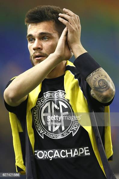 Nathan De Souza of Vitesse Arnhem with shirt of Chapecoenseduring the Dutch Eredivisie match between Vitesse Arnhem and PEC Zwolle at Gelredome on...