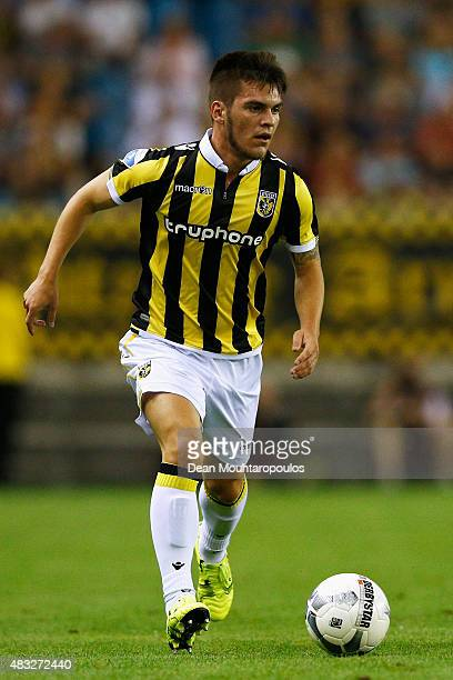 Nathan de Souza of Vitesse in action during the UEFA Europa League third qualifying Round 2nd Leg match between Vitesse Arnhem and Southampton FC...